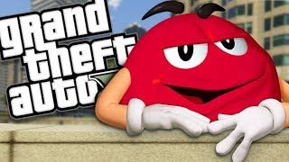 THE RED M&M CANDY MOD (GTA 5 PC Mods Gameplay)