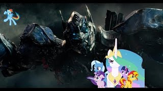Ponies watch Transformers 5 Trailer
