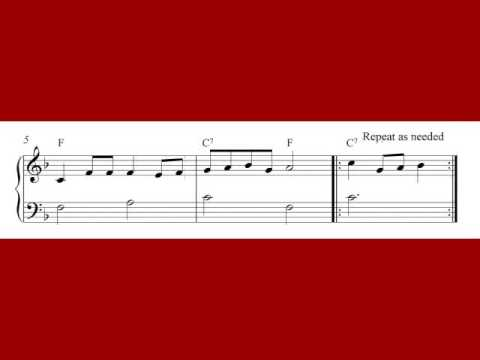 Twelve Days Of Christmas Notes.The Twelve Days Of Christmas Piano Sheet Music Notes
