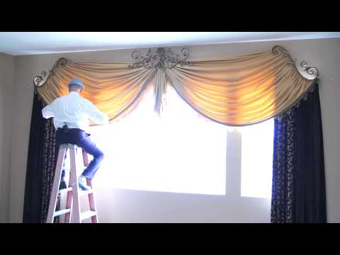 How to Dress Custom Drapes for Tall Windows | Galaxy-Design Video #111