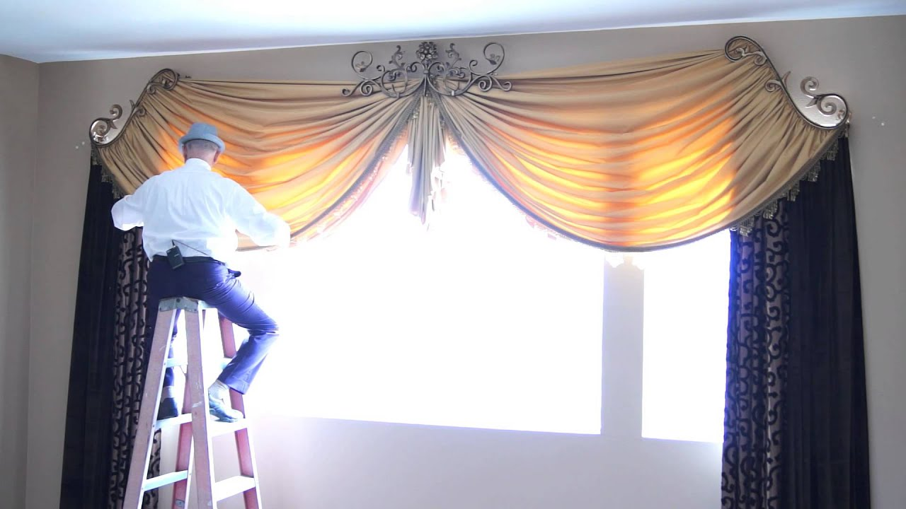 How To Dress Custom Drapes For Tall Windows