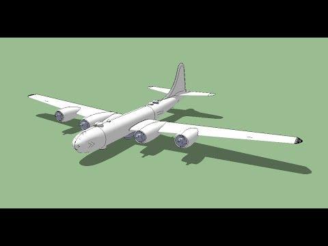 B - 29  3D sketchUp
