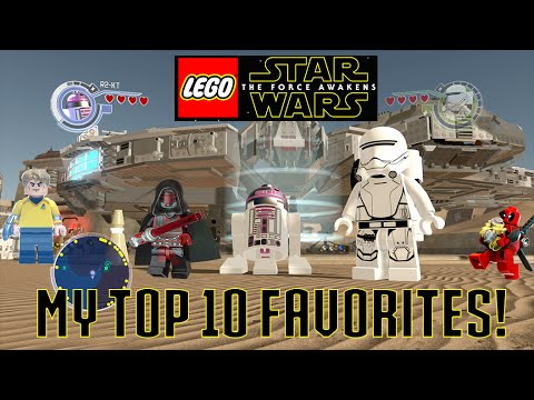 LEGO Star Wars The Force Awakens - My Top 10 Favorite Characters (At Launch)