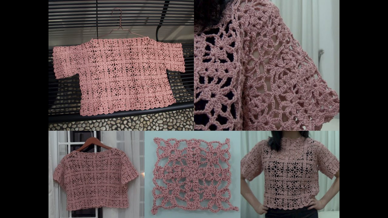 How To Crochet Granny Square Crop Top Part 2 Of 4 Granny