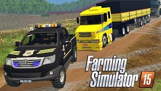 Polícia Prende Caminhão Rebaixado - Farming Simulator 2015 Multiplayer