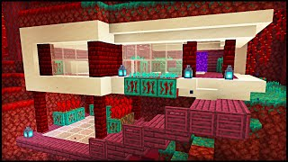 NEW 1.16 Minecraft Modern Nether House: Minecraft Modern House Tutorial!