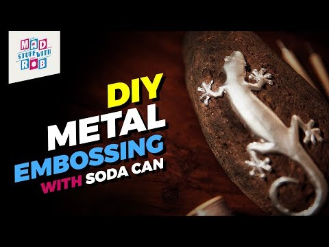 How to Convert a Soda Can into Art | Metal Embossing