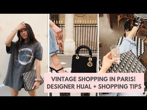 VINTAGE/THRIFT SHOPPING IN PARIS | DESIGNER HAUL | Lifew.erin