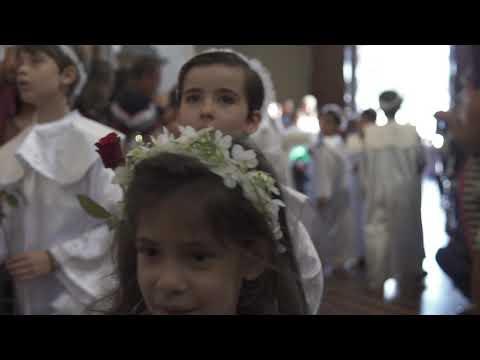 Alunos do CSOL participam de coroação na Igreja São Francisco de Assis