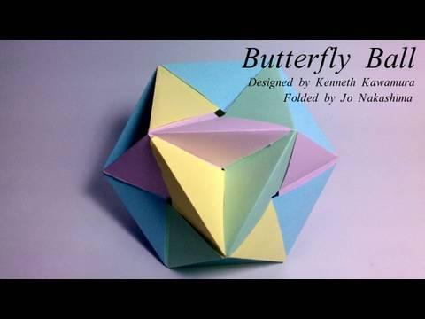 Origami Butterfly Ball Kenneth Kawamura Youtube