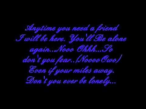 If you need a friend lyrics