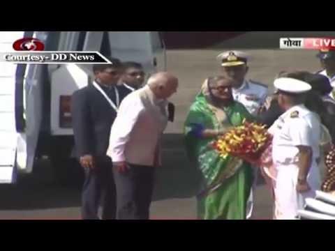 Goa Bangladesh's Prime Minister Sheikh Hasina arrives in India