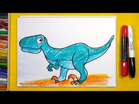 Как нарисовать динозавров