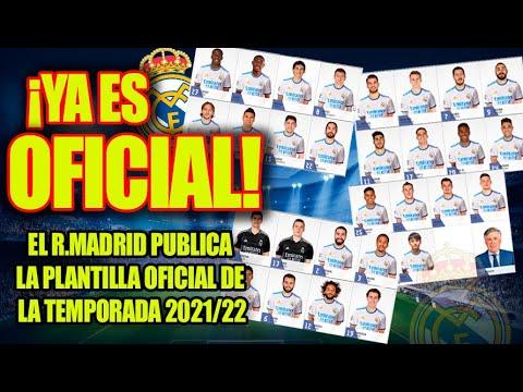 ¡Ya es Oficial!  |  El R.Madrid publica la plantilla OFICIAL de la temporada 2021/22