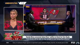 UNDISPUTED | Skip Bayless react to Randy Moss concerned about Bucs' ability to block for Tom Brady