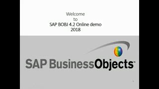 SAP Business Objects 4.2 Online Training  for beginners