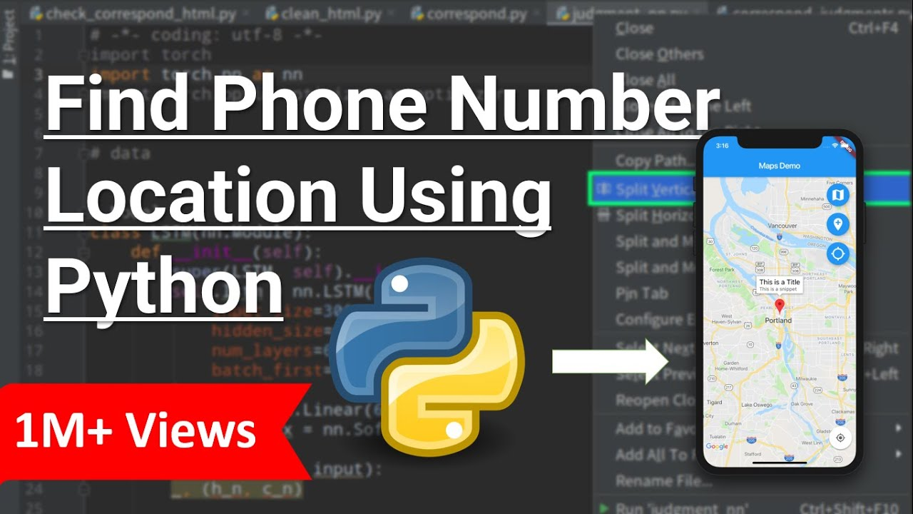 Locate Phone Number Location Using Python