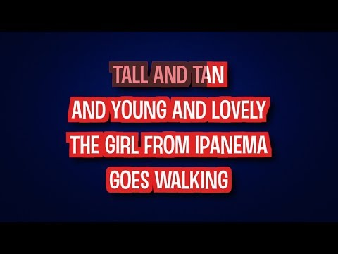 The Girl From Ipanema - Amy Winehouse | Karaoke LYRICS