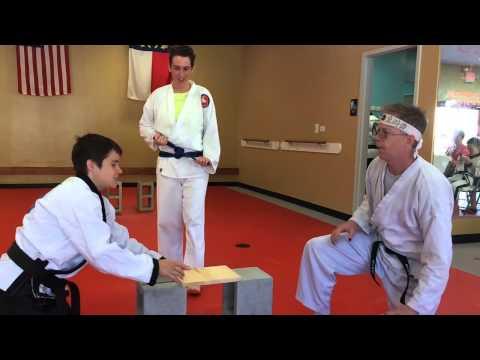 NEALS TAEKWONDO - GILLIAN FINK BREAKS 12 of 20 Boards
