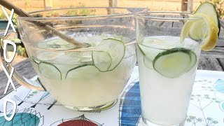 Homemade Lemonade Recipe W/ Cucumber, Ginger, & Mint