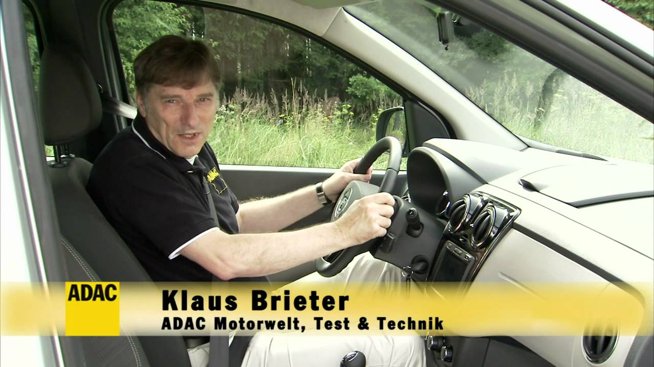 dacia lodgy im test autotest 2012 adac youtube. Black Bedroom Furniture Sets. Home Design Ideas