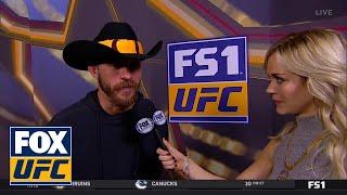 Donald 'Cowboy' Cerrone talks to Laura Sanko   WEIGH-IN   UFC FIGHT NIGHT