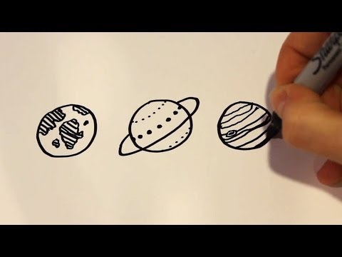easy to draw the planets - photo #13