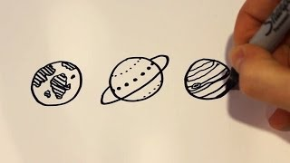 How to Draw Cartoon Planets
