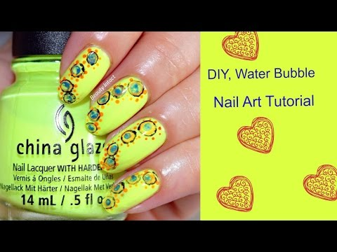 How To Do Water Bubble Nails Diy Water Bubble Nail Art Tutorial