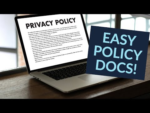 Create a Privacy Policy / Cookie Policy for your WordPress Website