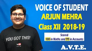 Voice of Student || Arjun Mehra || Session 2018-19 || Let's Connect || #avte
