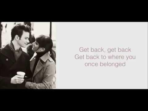 Glee - Get Back (Lyrics)