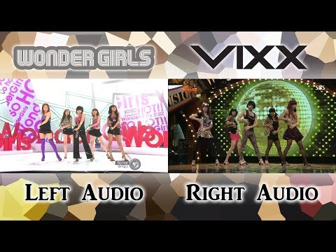 Wonder Girls & VIXX - So Hot [Live Comparison]