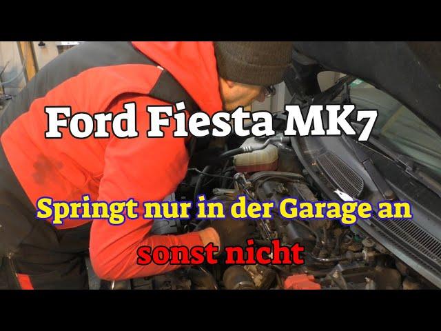 Ford Fiesta - springt nur in der Garage an - sonst nicht