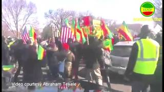 Massive Ethiopians protest underway in Washington D.C.