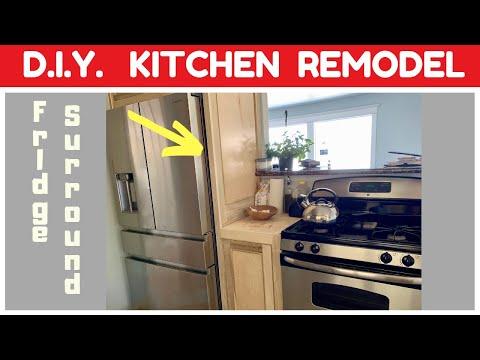 DIY KITCHEN REMODEL – Fridge Surround and Custom Countertops – Part 5