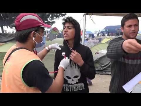 Greece-Apr. 3, 2016: Idomeni: Medical Aid for Refugees