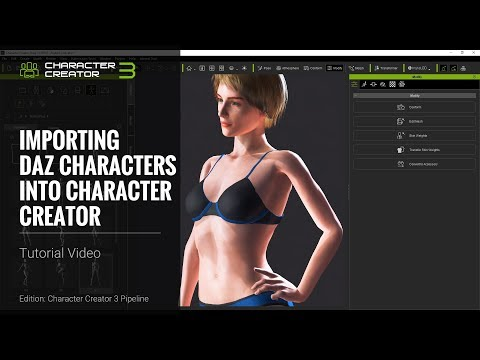 Character Creator 3 Tutorial - Importing Daz Characters into Character  Creator