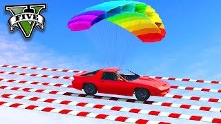 GTA V Online: SKILL TEST com o CARRO DE PARAQUEDAS - INCRÍVEL!!