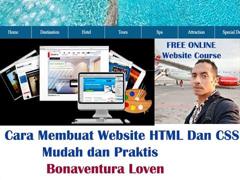 Cara Membuat Halaman Website HTML Dengan CSS -  Merancang Website HTML CSS