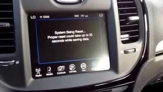 How to perform the recall update on Uconnect 8.4 Radios