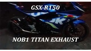 Modifikasi Suzuki GSX-R 150 Nob1 Titan Exhaust - Racing Exhaust