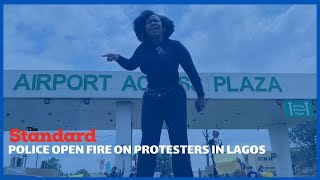 At least one person had been killed by police gunfire during protests in Lagos