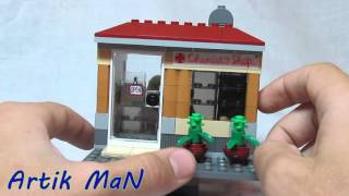 Обзор самодельной Lego-постройки 'Cemist's shop'!///LEGO 'Chemist's shop' MOC review!