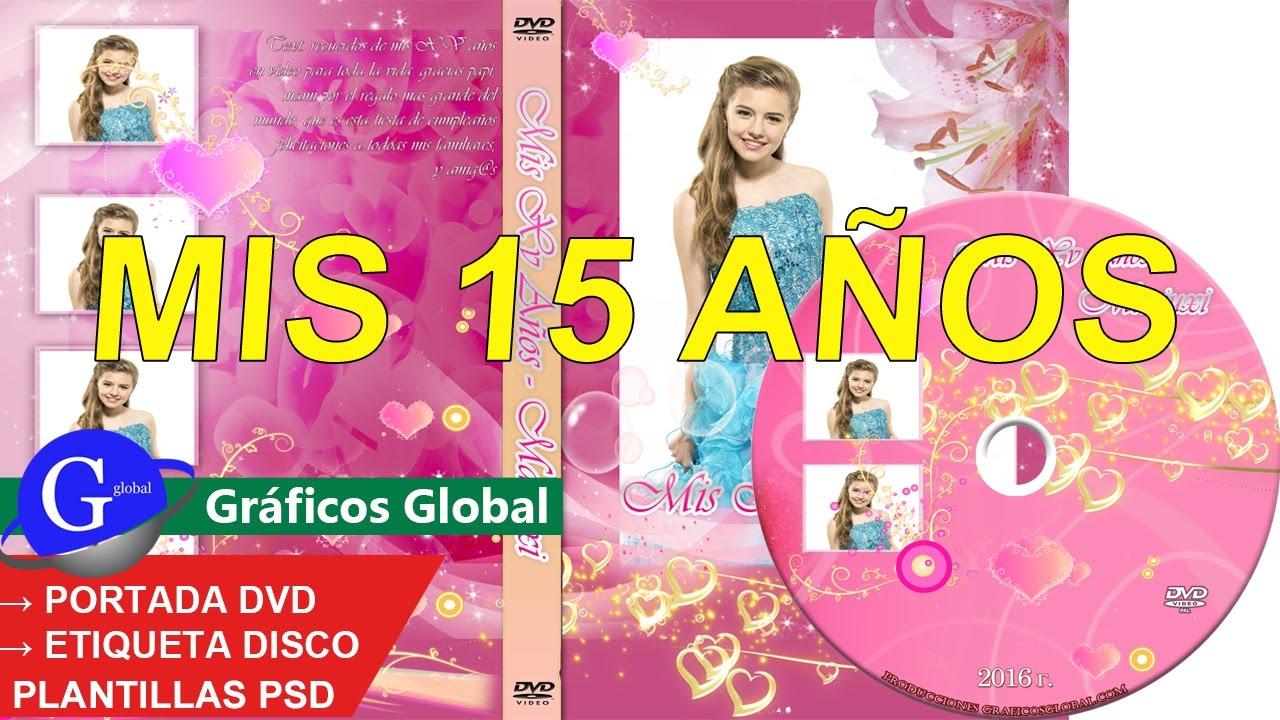 Portada DVD XV años plantillas psd para photoshop editables │Color ...