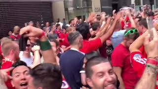 New York Kopites celebrated on the road after Liverpool won the Champions league final 2019
