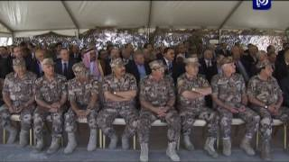 جلالة الملك يتابع تمريناً عسكرياً  نفذه  لواء الملك الحسين بن علي