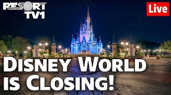 🔴Live: Disney World is CLOSING!!  Last Magic Kingdom Live Stream for a While!!  1080p