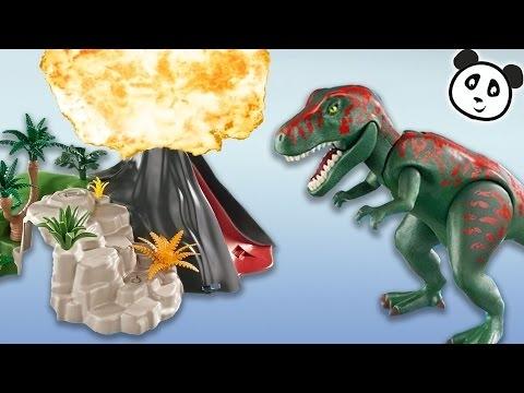 Playmobil Dinosaurier Deutsch T Rex Und Saichana Beim Vulkan