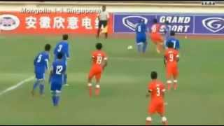 Mongolia 2 1 Singapore   2016 AFC U23 Qualification   1st half‬